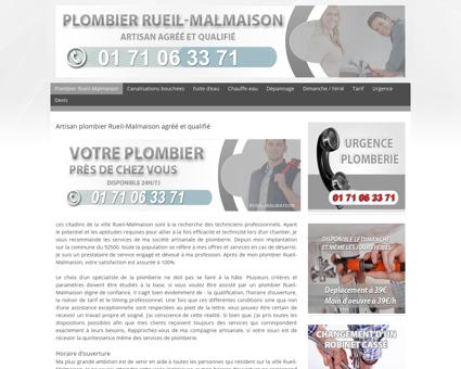 Plombier Rueil-Malmaison  Dépannage 39...