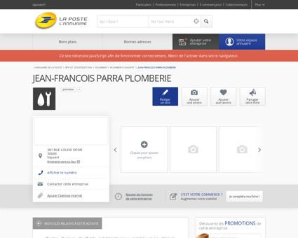 JEAN-FRANCOIS PARRA PLOMBERIE -...