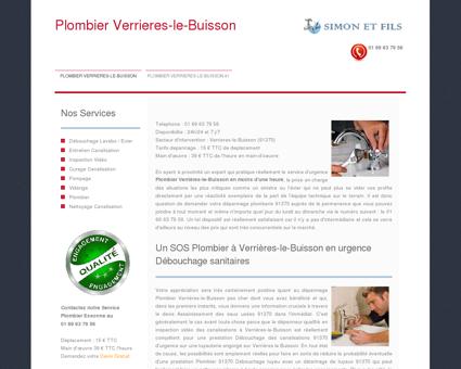 Plombier Verrieres-le-Buisson