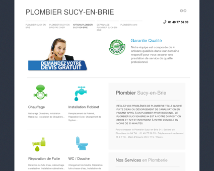 Plombier Sucy-en-Brie