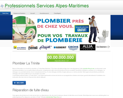 Plombier 06340 La Trinite - Jules Debouchage...
