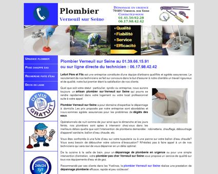 Plombier Verneuil sur Seine - Dépannage au...