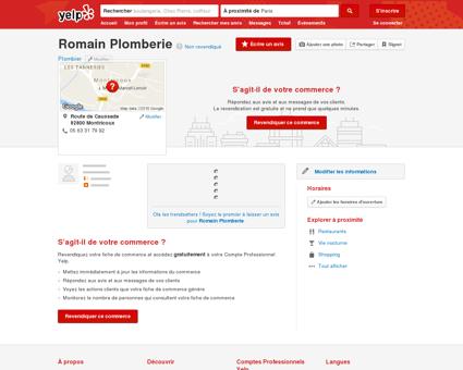 Romain Plomberie - Plombier - Route de...