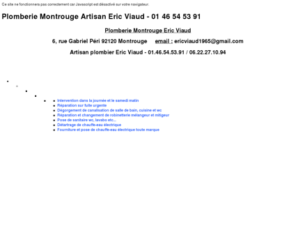 Plomberie Montrouge Artisan Eric Viaud...