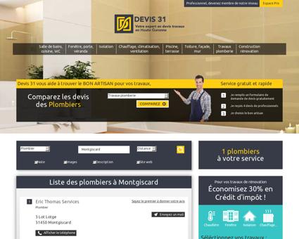 Plombier à Montgiscard - Devis-31.com