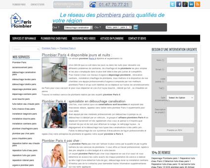 Plombier Paris 4 disponible jours et nuits :