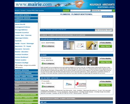 Plomberie - plombier Montfermeil : Mairie.com
