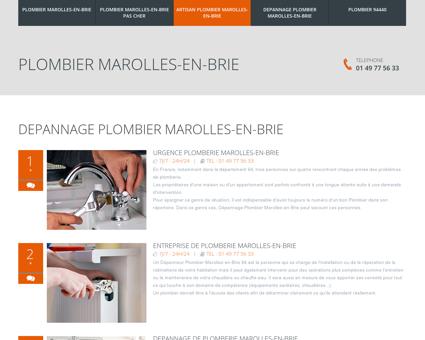 Depannage Plombier Marolles-en-Brie