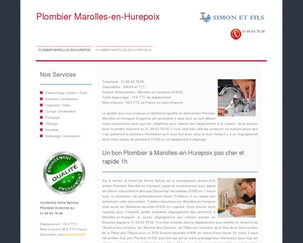 Plombier Marolles-en-Hurepoix
