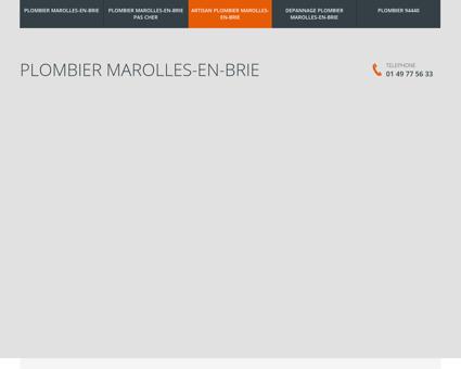 Plombier Marolles-en-Brie