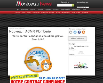 Nouveau : ACMR Plomberie « Montceau...
