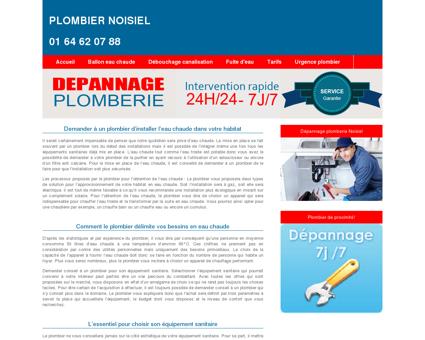 Plombier Noisiel : 01 64 62 07 88 expert