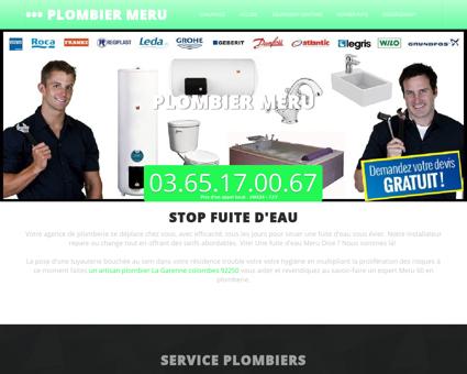 Plombier Meru | Élouan fuite d'eau