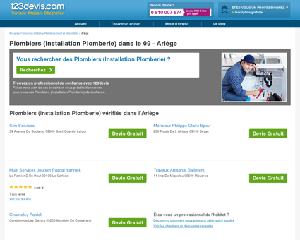 Devis plomberie Ariège (09) , installation et...
