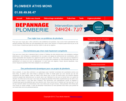 Plombier Athis Mons : 01.69.49.66.47 disponible