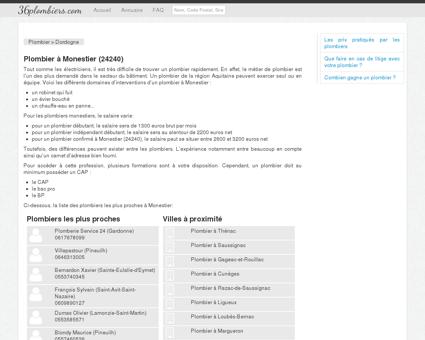 Plombier à Monestier (24240)