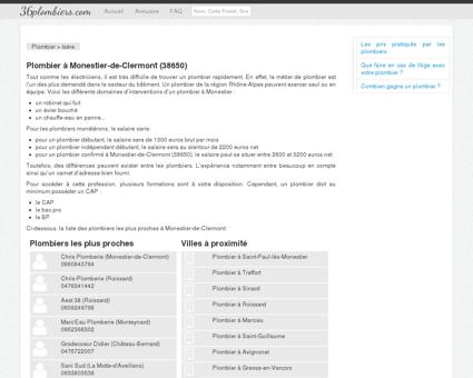 Plombier à Monestier-de-Clermont (38650)