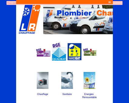 LR CHAUFFAGE SANITAIRE PLOMBERIE...