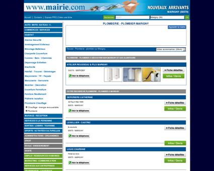 Plomberie - plombier Marigny : Mairie.com