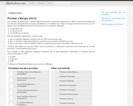 Plombier à Marigny (03210)