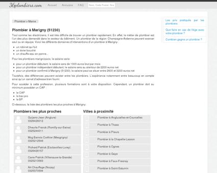 Plombier à Marigny (51230) - Annuaire des...