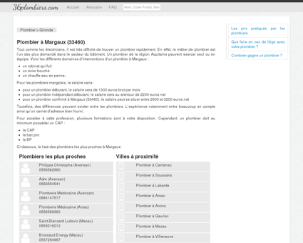 Plombier à Margaux (33460) - Annuaire des...