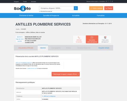 ANTILLES PLOMBERIE SERVICES (LE GOSIER)...