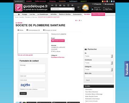 SOCIETE DE PLOMBERIE SANITAIRE - Le...
