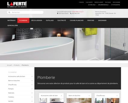Plomberie - Laferté - Centre de rénovation |...