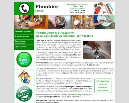 Plombier Limay - Urgence au 01.39.66.15.91