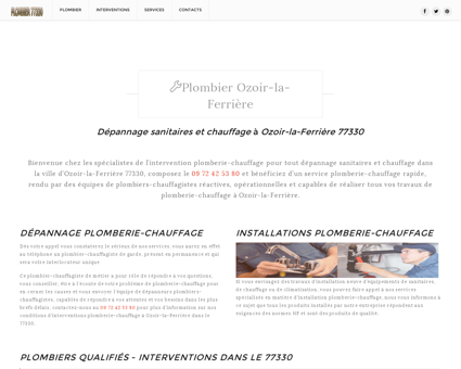 Plombier Ozoir-la-Ferrière - 09.72.42.53.80 -...