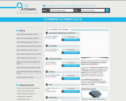 plombiers Le Pontet 84130 - Plombier