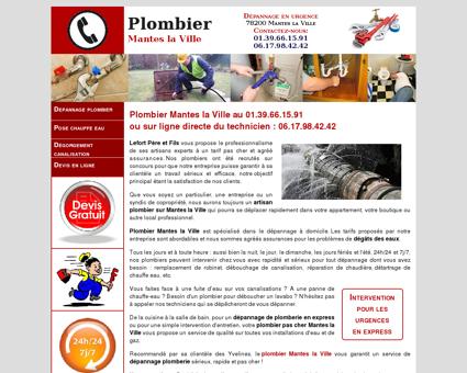 Plombier Mantes la Ville - Urgence au...