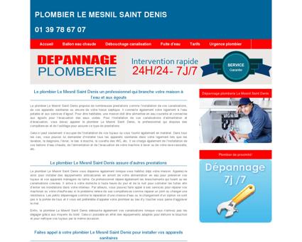 Plombier Le Mesnil Saint Denis : 01 39 78 67...