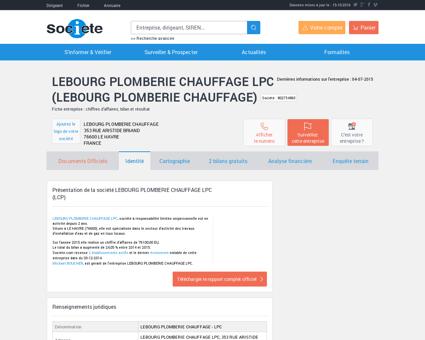 LEBOURG PLOMBERIE CHAUFFAGE LPC (LE...