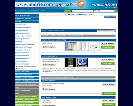 Plomberie - plombier Lattes - Mairie.com - Le...
