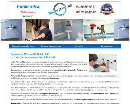 Plombier Le Pecq - Dépannage au 01.39.66.15.91