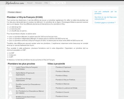 Plombier à Vitry-le-François (51300) - Annuaire...