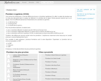 Plombier à Lignières (18160)