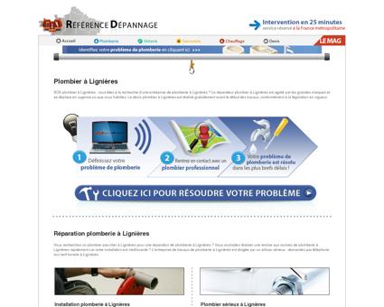Plombier à Lignières : travaux urgent en...