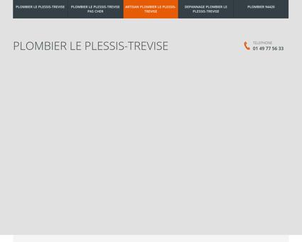 Plombier Le Plessis-Trevise