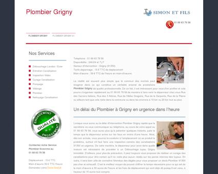 Plombier Grigny