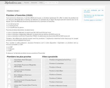 Plombier à Faverolles (15320)
