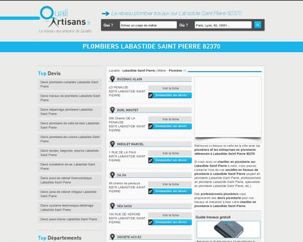 plombiers Labastide Saint Pierre 82370 -...