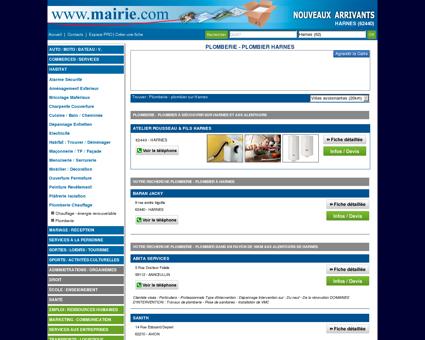 Plomberie - plombier Harnes : Mairie.com