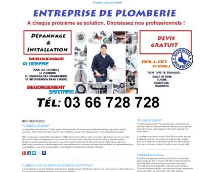 Plombier Jeumont TEL:03 66 728 728