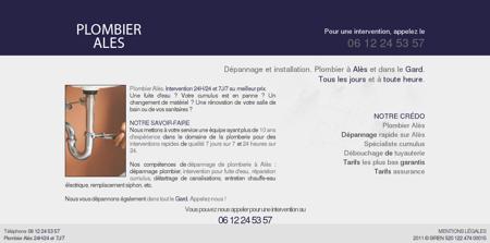 Plombier Alès - Gard (30)