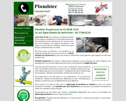 Plombier Guyancourt - Urgence au...