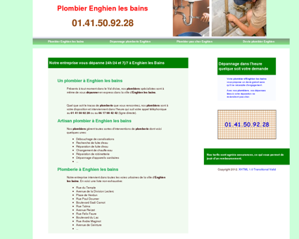 Plombier Enghien les bains - 01 41 50 92 28