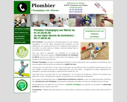 Plombier Champigny sur Marne - Urgence au...